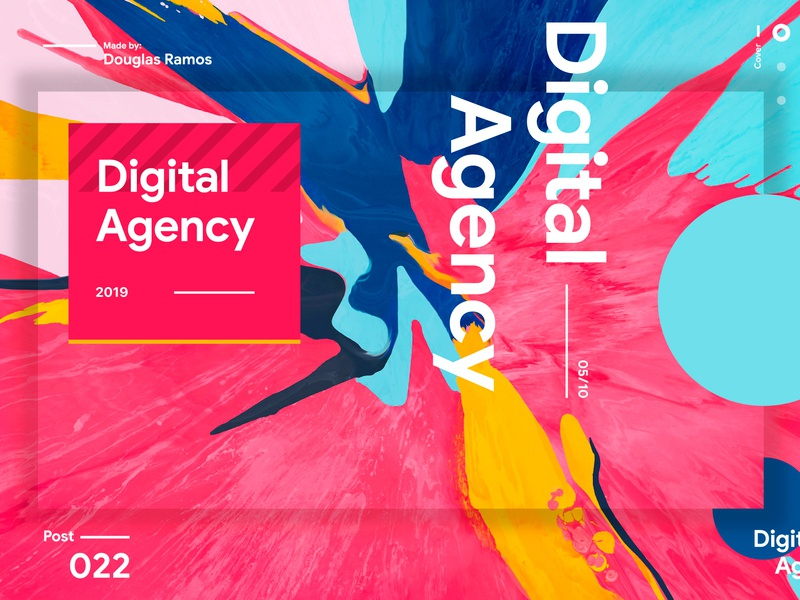 Digital Agency Cover presentation design presentation typography web ux graphic design art app ui colors design branding
