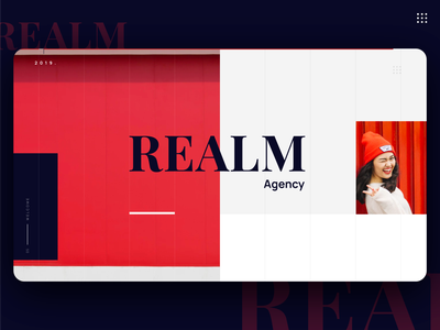 Realm Agency Cover fancy influencer model cover presentation deck agency