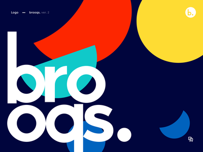 brooqs. logo ver. 2 vector typography design restaurant logotype logo identity geometric food eat colors branding bowl