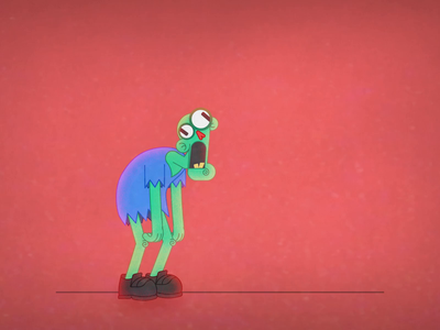 Zombie jump animation 2d character animation motion design school jump zombie