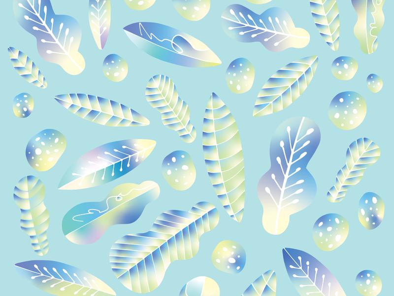 Razzle Dazzle Blueleaf simple rocks flowers monochromatic monochrome colorful plants leaf leaves gradient