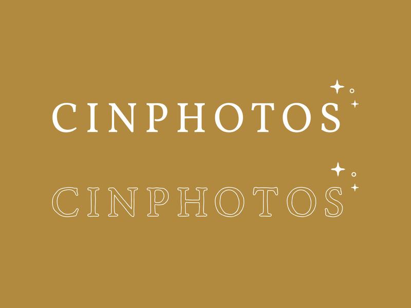 Brandmark for Cinphotos ethereal warm colors photography logo creative logo brand direction creative direction brand identity branding branding design submarks brandmark logo design