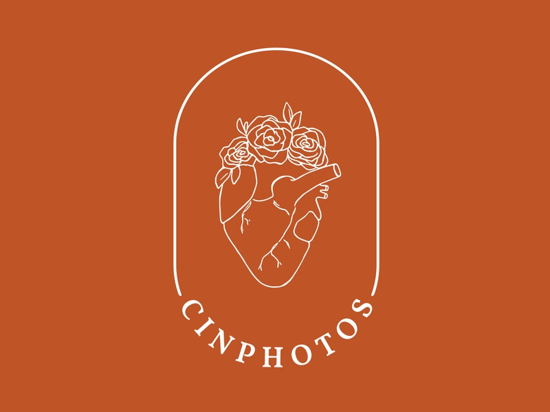 Cinphotos logo design creative direction branding design brand identity brand design logotype handmade heart logo illustration design hand drawn logo design logodesign