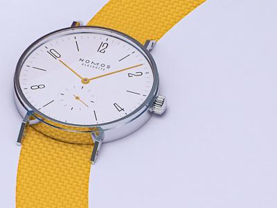 Nomos Tangente #2 rendering render cinema4d mexico colima cad cgi 3d product watches watch nomos