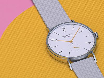 Nomos Tangente #3 colima mexico nomos design rendering render wristwatch watches watch