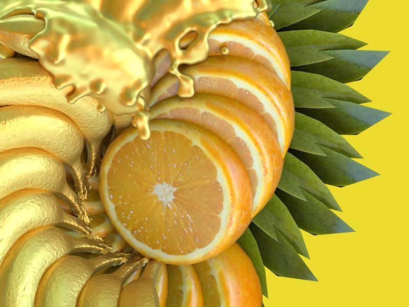 Banaranja orange yellow design food banana fruit