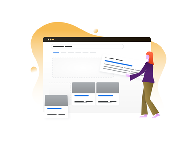 Changing ranking position gradient keywords character dashboard abstract illustration seo seo tool ranking awr advanced web ranking