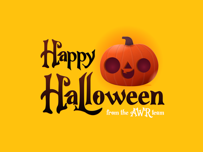 Happy Halloween spooky pumpkin halloween illustration ranking seo tool advanced web ranking seo awr
