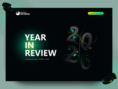 Advanced Web Ranking - 2020 Year in Review analytics ux ui 3d landing page landing page awr 3d art 3d abstract illustration seo tool ranking seo