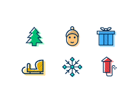 Winterholidays icons