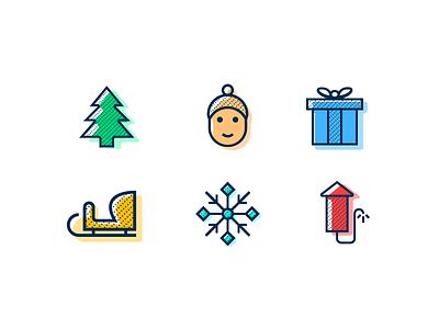 Winter Holidays Icon Set - FREEBIE free icons christmas icons icon set new years eve winter holidays freebie icon christmas holiday