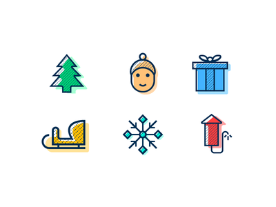 Winter Holidays Icon Set - FREEBIE