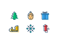 Winter Holidays Icon Set - FREEBIE