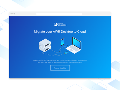 AWR Migration to Cloud isometric cloud migration keywords seo advancedwebranking ranking awr