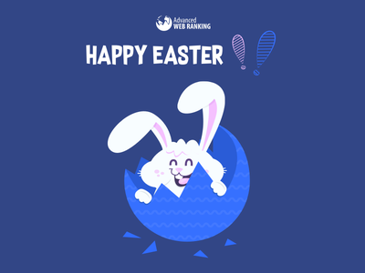 Happy Easter from AWR team advanced web ranking awr happy easter awr easter bunny easter
