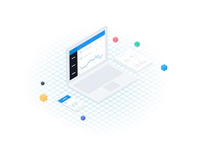 SEO Software - Isometric illustration / Advanced Web Ranking keywords tool advanced web ranking illustration ranking seo tool seo awrcloud awr isometric