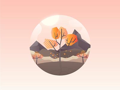 Geometric Autumn - Smashing Magazine September Illustration advanced web ranking awrcloud awr autumn geometric illustration wallpaper september smashing magazine