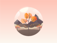 Geometric Autumn - Smashing Magazine September Illustration