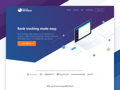 Advanced Web Ranking / New Website keywords advanced web ranking illustration ranking seo tool awrcloud awr isometric new site new site redesign redesign