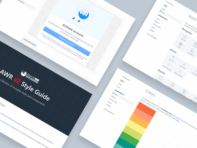 Advanced Web Ranking / Styleguide illustration ranking seo tool seo design branding advanced web ranking awr icons colors styleguide