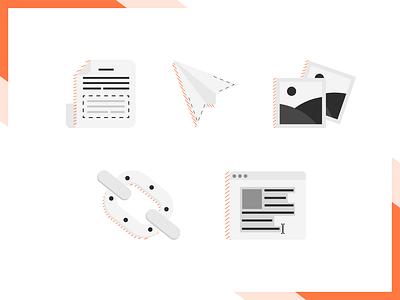 Advanced Web Ranking / Blog Icons illustration orange iconography seo tool icons seo advanced web ranking awr