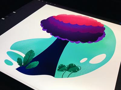 Abstract Tree tree abstract illustration procreate
