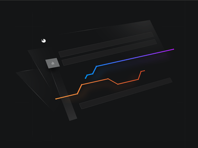 Not a usual dashboard analytics 3d black chart abstract abstract art isometric illustration seo tool ranking seo advanced web ranking awr dashboard