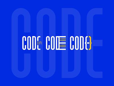 Logos Design_CODE vector wordmark logo wordmark graphic design logo logo design
