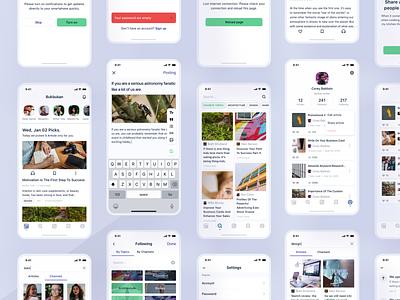 Bukbukan screens app medium journal material ui portal news article hobby uikit writers interface writer user interface ui ux application android ios app design mobile app app