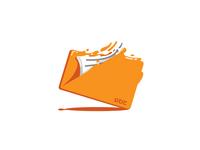 Liquid Folder Document Illustration