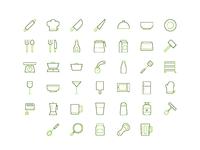 organic restaurant iconset