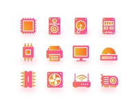 Hardware Gliph Icons