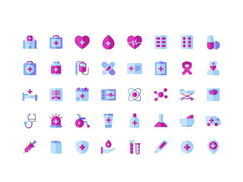 Medical Flat icons clean flaticons icon pack material design designsystem symbol design symbol icon sign symbol ux ui icons design icons pack icons set icon app icon artwork icon a day icons