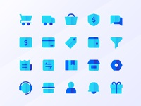 Color Exploration in Flat icons