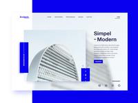 Architech Landing Page Concept