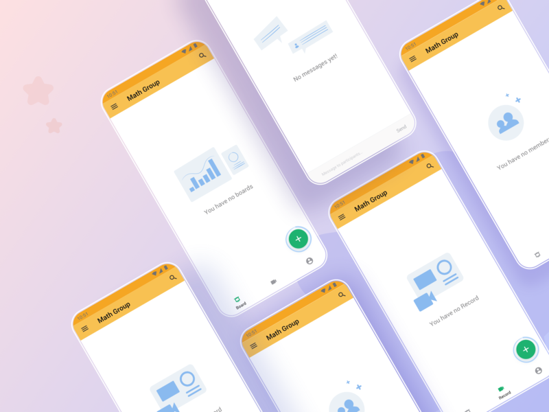 Empty States Liveboard app uidesign android ios gradient background mobile vector gradient color design app illustration ui
