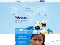 Wizdraw / webpage concept