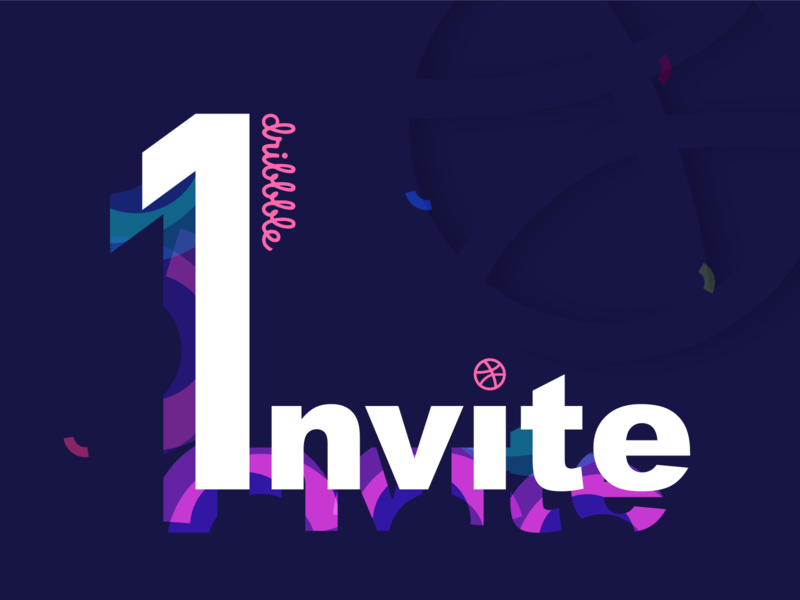 One Dribbble INVITE colors redesign one invite illustrator freebie review playerinvite giveaway free-invite illustrations invitaion free dribbble dribbble invite dribbble invitation