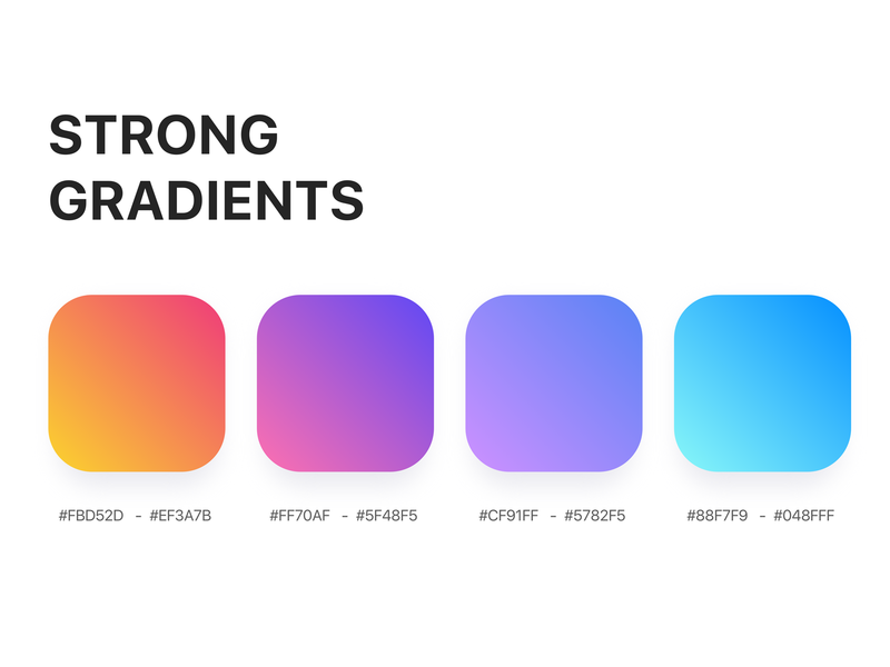 Gradient, Colors ui vector app colorful app color of the day visualidentity gradient background dribbble uxdesigner colorscheme colorpalette color illustration illustrator uidesign uxdesign gradiant brightcolor gradient color gradients