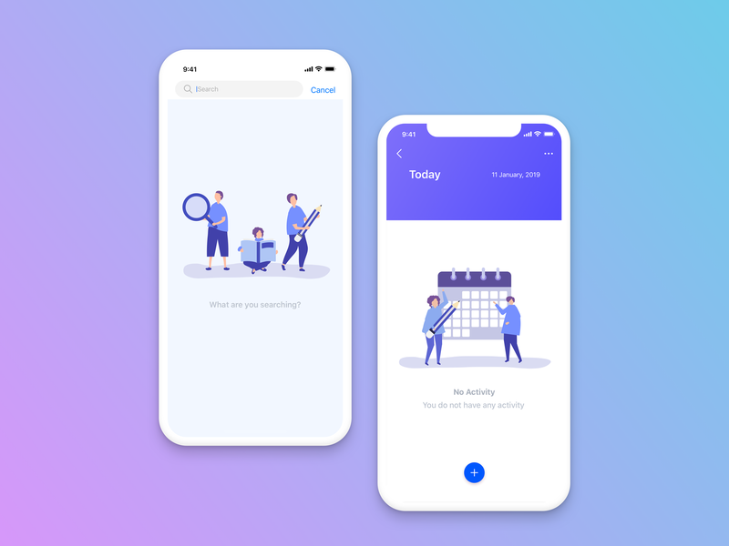 Empty state gradient color gradient background design ux ui user experience design user interface design sketch app uxdesign uidesign todo app todo color background background gradient color illustrations illustrator empty state app