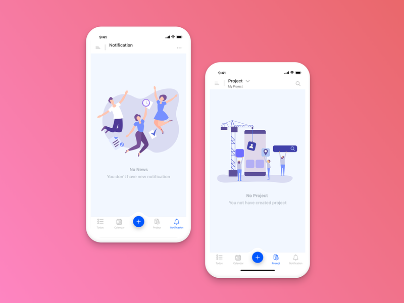 Empty State dribbble background colorful empty state illustrations sketch app ios startup vector mobile illustrator gradient color gradient background user interface design uidesign illustration design app ux ui