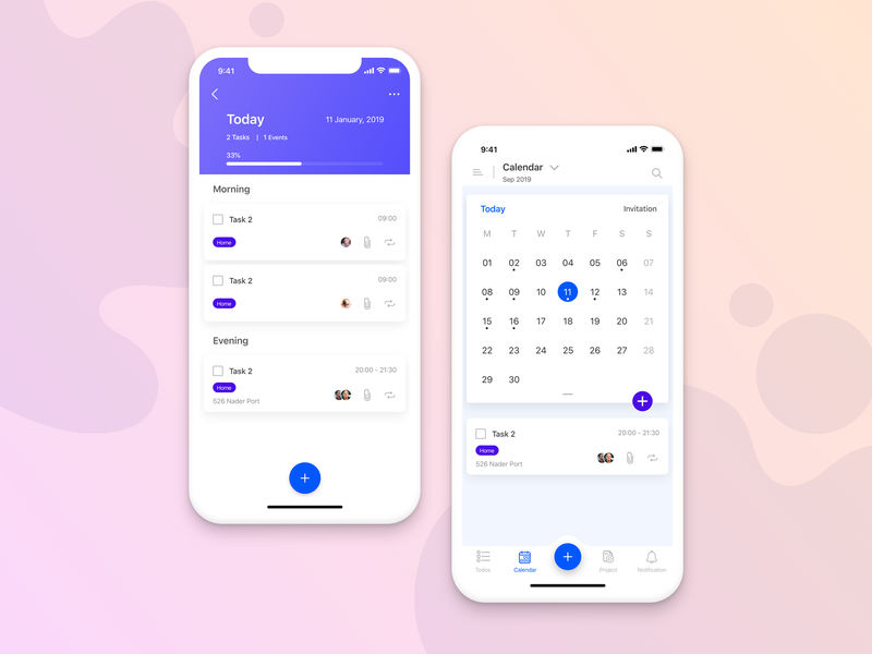 Todo app todolist to do app tasks calendar todoapp todo mobile dribbble startup flat vector gradient background uidesign ios user interface design gradient color app design ux ui