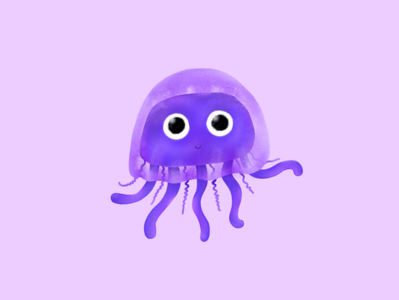 Jellyfish Avatar sketch drawing jelly style color ipad pro ipad procreate5 procreate illustraion avatar artist jelly fish