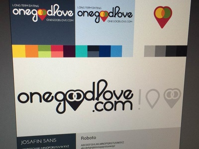 OneGoodLove identity identity logo dating love relationship heart venn icon branding colors