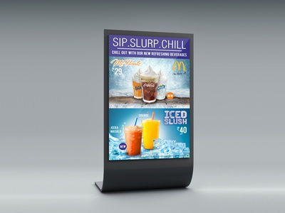 Stand-Up Display Mcdonalds branding design