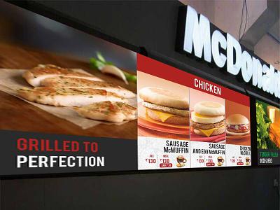 Mcdonalds Breakfast Menu branding design