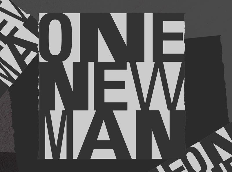 One New Man vector type illustration design church design branding brand logo