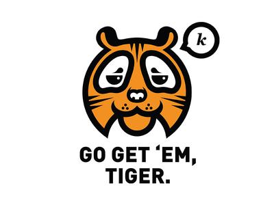 Go Get Em Tiger din black minimalist minimal simple illustration orange k go get em tiger