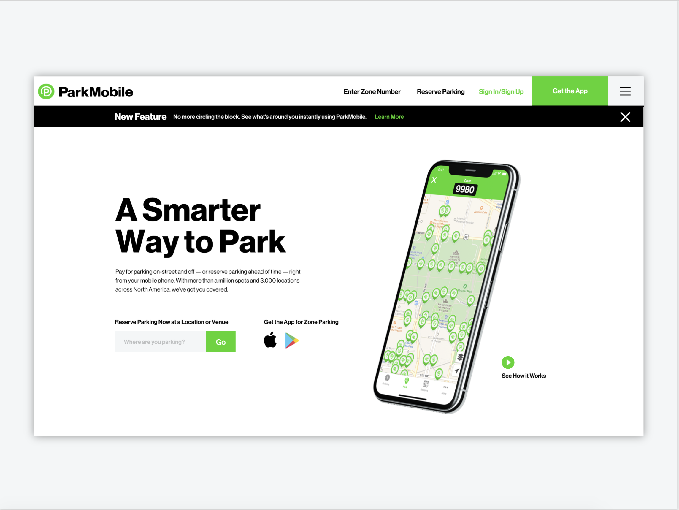 Parkmobile homepage