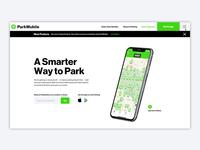 ParkMobile Website Design Homepage Intro